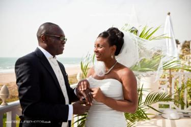 Exotic wedding in The Gambia at Coco Ocean Hotel